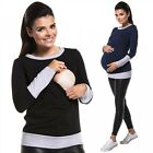 Zeta Ville - Women's breastfeeding top sweatshirt hoodie - nursing panel - 381c