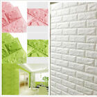 Waterproof 3D Brick Style Self-adhesive Panel Decal Wall Sticker Embossed HOT