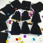 50 Bag Black Velvet Cloth Jewelry Pouch Gift Small Drawstring Bracele Ring 4x3""