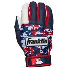 Franklin Sports Adult MLB Digitek USA Camo Batting Gloves White/Navy/Red Pair
