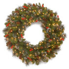 National Tree Company Crestwood Spruce Wreath with Battery Operated LED Lights &