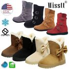 39a566ccfea Women s Winter Warm Suede Ankle Snow Boots Fur Thicken Ski Flats Casual  Shoes