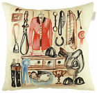 Tack Room Horse riding Cushion, by Jennifer Rose Gallery, best of British (43...