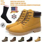 Mens Work Safety Shoes Leather Boots Hard Toe Cap Ankle Boots Shoes Trainers NEW