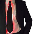 Led Flashing Light Up Sequin Necktie Mens Boys Party Neck Tie Wedding Xmas Gift