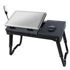 Portable Laptop Table Stand Internal Cooling Fan LED Light Multi-functional New