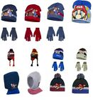 New boys licensed Super Mario winter hat with gloves set 52 and 54 cm bnwt