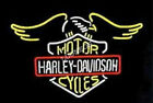 24 inche Rare HD Eagle Harly Davidson Motorcycle Bike Real Glass Neon Light Sign