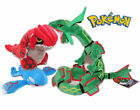 Pokemon Center Groudon & Kyogre & Rayquaza Plush Doll Stuffed Anime Toy X'mas