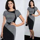 Women Slim OL Formal Business Work Stretch Cocktail Party Evening Pencil Dress