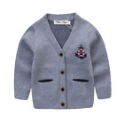 NEW Baby Boys Knitted Jumper quality cotton in GREY size 6/9M to 6