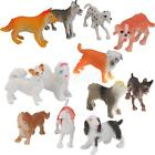 12p Assorted Breeds Plastic Pet Dogs Puppy Animal Figures Party Bag Fillers