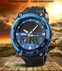 Men Outdoor Waterproof Sports Analog Digital Solar Power LED Date Wrist Watches