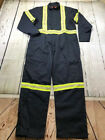 Reflective Industrial Work Coverall Navy Cotton Blend CU Brand by REED-USA New