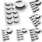 5Pairs 3D Mink False Eyelashes Wispy Cross Long Thick Soft Eye Lashes Natural
