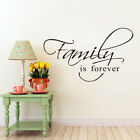 FAMILY IS FOREVER wall sticker BEDROOM wall art  DECAL DECOR living room