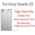 3pcsFor Sony XperiaZ5  High Clear/Matte/Soft Nano/Anti Blue Ray Back Film