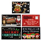 JVL Festive Christmas Santa Reindeer Elf Machine Washable Door Mat - 40 x 60 cm