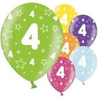"4th Childrens Balloons - 11"" Latex party boys birthday girls decorations Stars"