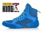 IRON TANKS TITAN V2 GYM SHOES BLUE WEIGHT LIFTING BODY BUILDING MMA FLAT SOLE