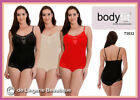 Elegant Cami Top Leotard Shaper with Lace Skintone Black & Red Size 8-20 S-XL