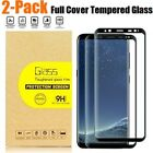 2 Pack Tempered Glass Screen Protector for Samsung Galaxy S8 Plus Note8 S7 Edge
