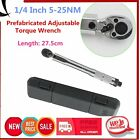 1/4 Inch 5-25NM Prefabricated Adjustable Torque Wrench Drive Click Wrench SX