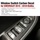Carbon Interior Window Switch Cover Decal Sticker for CHEVROLET 2016-2018 Malibu