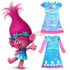 Trolls Poppy Dress Costumes Cosplay Princess Kids Girls Fancy Outfits Age 4-11 Y image