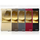 New Auto Wake-Up Window View Synthetic Flip Leather Case Cover For Huawei mate 8