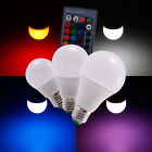 E27 RGB 3W 5W 10w Couleur Changeant Dimmable Ampoule LED lampe lumiere