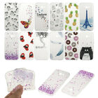 Ultra Thin Clear Pattern Soft TPU Gel Back Case Cover For Samsung Galaxy Phones