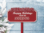 Happy Holidays with Candy Canes lawn greeting sign