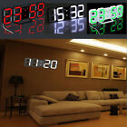 Digital LED Table 24/12 Time Display Night Wall Clock Watch Alarm Modern Design