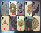 Natural Real Wood Wooden carving Cover Case for i Phone X Edition (10 choices)