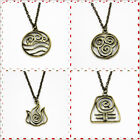 Bronze Tone The Last Airbender Halloween Necklace Pendants 4 Nations Keychain