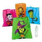 """CLASSIC MONSTERS HALLOWEEN GHOULZ LARGE BRIGHT 15"""" x 16""""  POLYESTER TOTE BAGS"""