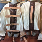 Escape room straight jacket with wide leather straps - lockable Large