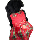 Dog Christmas Holiday red green PLAID DRESS Simply Dog Puppy Small Medium NEW