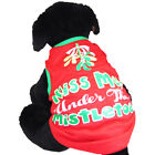 Kiss Me Under the Mistletoe Dog Holiday Shirt NEW