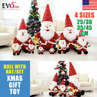 Christmas Lovely Child Doll Hat Decoration Santa Claus Plush Toy 25/30/35/45CM