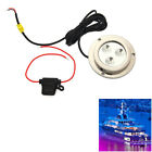 LED 6W 12V TRANSOM BOAT UNDERWATER LED BUNG POND POOL FISHING LIGHT KIT BLUE