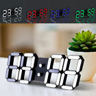 Modern Digital LED Table Desk Night Wall Clock Alarm Watch 24/12 Hour Display