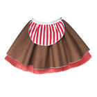 Ladies Candy Cane COSTUME Skirt Christmas Fancy Dress Dance Costume PLUS SIZE