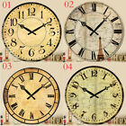Vintage Style Wall Clocks Rustic Retro Shabby Chic Antique Kitchen Home Decor