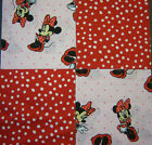 """*Minnie Mouse 5"""" Quilt Squares Cotton Fabric Quilting 32 USA"""