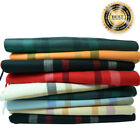 100%CASHMERE Classic Scarf Colored tartan stripe Plaid Check Made In SCOTLAND