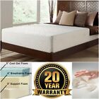 "10"" Cooling Gel Memory Foam Luxury Mattress Twin Full Queen King Size H Density"