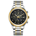 Luxury TEVISE Automatic Mechanical 316L Stainless Steel Mens Date Wristwatch