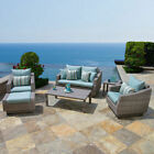 Rst Brands Cannes 6 Piece Loveseat and Club Seating Set